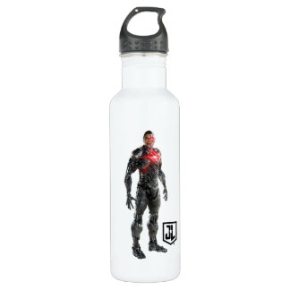 Justice League   Cyborg On Battlefield 710 Ml Water Bottle