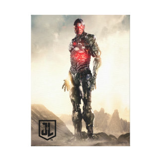 Justice League | Cyborg On Battlefield Canvas Print