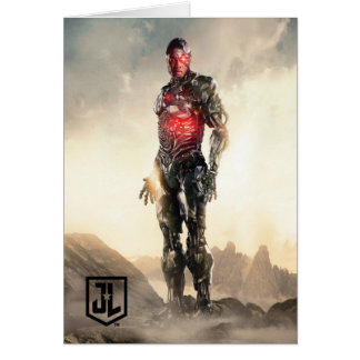 Justice League | Cyborg On Battlefield Card