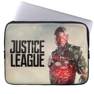 Justice League | Cyborg On Battlefield Laptop Sleeve
