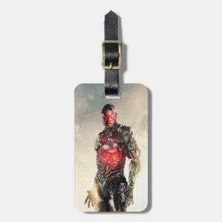 Justice League | Cyborg On Battlefield Luggage Tag