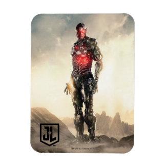 Justice League   Cyborg On Battlefield Magnet