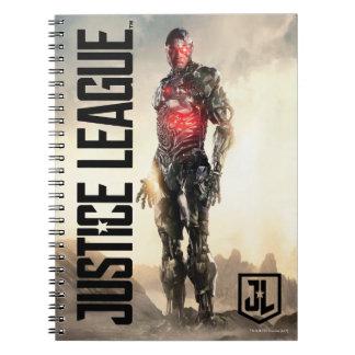 Justice League | Cyborg On Battlefield Notebook