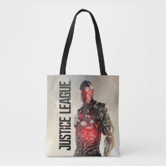 Justice League | Cyborg On Battlefield Tote Bag