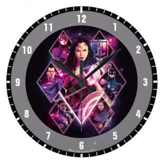 Justice League | Diamond Galactic Group Panels Large Clock