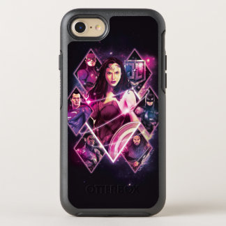 Justice League | Diamond Galactic Group Panels OtterBox Symmetry iPhone 8/7 Case