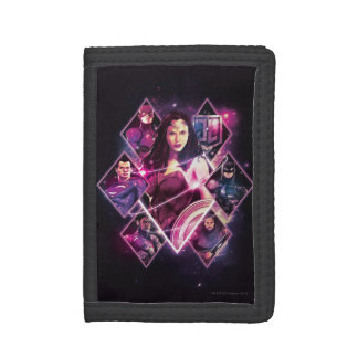 Justice League | Diamond Galactic Group Panels Tri-fold Wallets