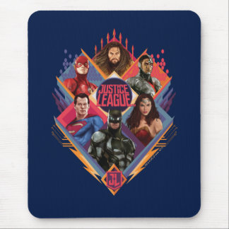 Justice League | Diamond Hatch Group Badge Mouse Mat
