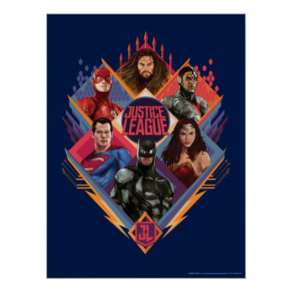 Justice League | Diamond Hatch Group Badge Poster
