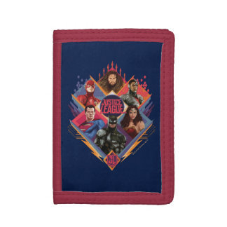 Justice League | Diamond Hatch Group Badge Tri-fold Wallet