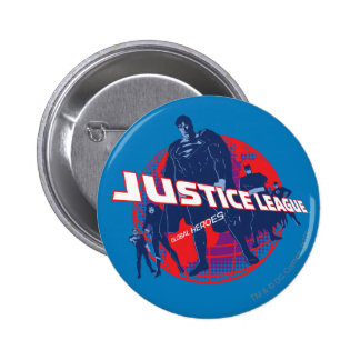 Justice League Global Heroes and Globe 6 Cm Round Badge