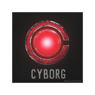 Justice League | Glowing Cyborg Symbol Canvas Print