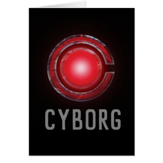 Justice League | Glowing Cyborg Symbol Card