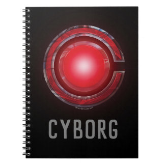 Justice League | Glowing Cyborg Symbol Spiral Notebook