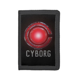 Justice League | Glowing Cyborg Symbol Trifold Wallet