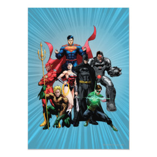 Justice League - Group 2 13 Cm X 18 Cm Invitation Card