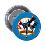 Justice League Heroes United 6 Cm Round Badge