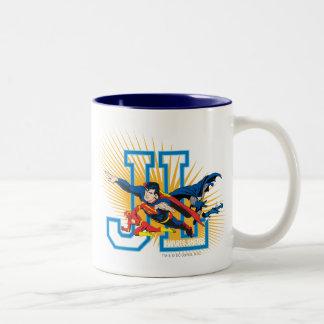 Justice League Heroes United Two-Tone Coffee Mug