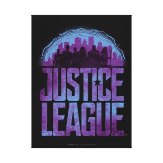 Justice League | Justice League City Silhouette Canvas Print