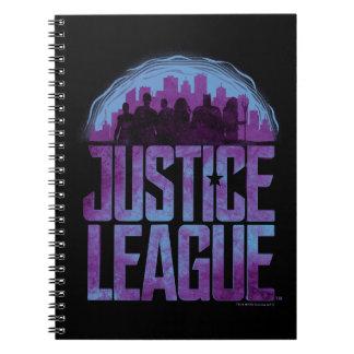 Justice League | Justice League City Silhouette Notebook