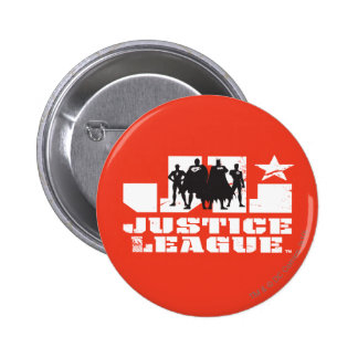 Justice League Logo and Character Silhouettes 6 Cm Round Badge