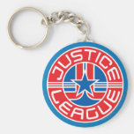 Justice League Logo Basic Round Button Key Ring