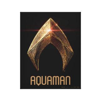 Justice League | Metallic Aquaman Symbol Canvas Print