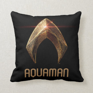 Justice League | Metallic Aquaman Symbol Cushion