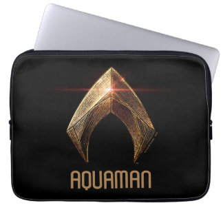 Justice League | Metallic Aquaman Symbol Laptop Sleeve