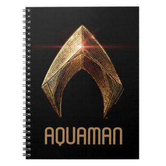 Justice League | Metallic Aquaman Symbol Spiral Notebook