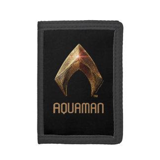 Justice League | Metallic Aquaman Symbol Trifold Wallet