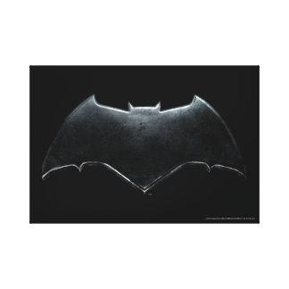 Justice League | Metallic Batman Symbol Canvas Print