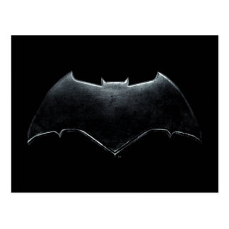 Justice League | Metallic Batman Symbol Postcard