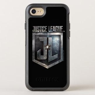 Justice League | Metallic JL Shield OtterBox Symmetry iPhone 8/7 Case