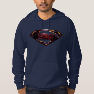 Justice League   Metallic Superman Symbol Hoodie