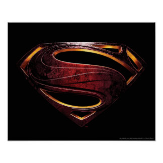 Justice League | Metallic Superman Symbol Poster