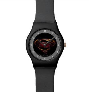Justice League | Metallic Superman Symbol Watch