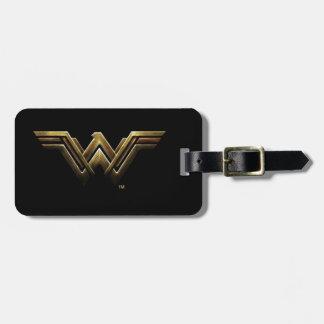 Justice League   Metallic Wonder Woman Symbol Luggage Tag