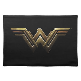 Justice League | Metallic Wonder Woman Symbol Placemat