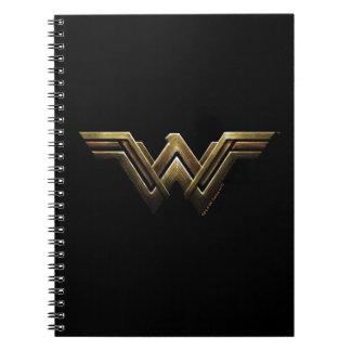 Justice League | Metallic Wonder Woman Symbol Spiral Notebook