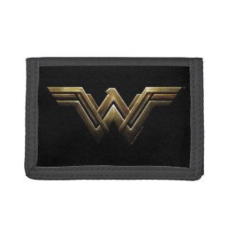 Justice League | Metallic Wonder Woman Symbol Tri-fold Wallet