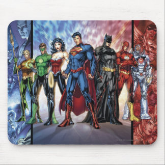 Justice League   New 52 Justice League Line Up Mouse Pad