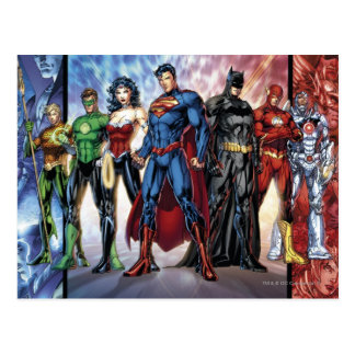 Justice League | New 52 Justice League Line Up Postcard