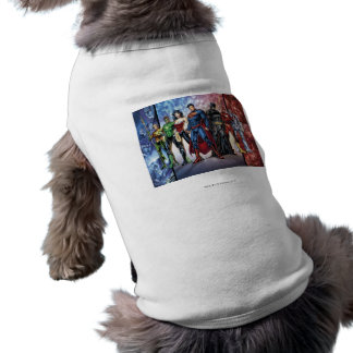 Justice League | New 52 Justice League Line Up Sleeveless Dog Shirt
