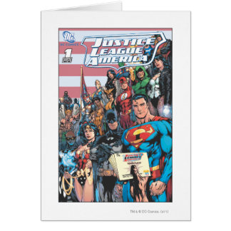 Justice League of America First Issue Greeting Card