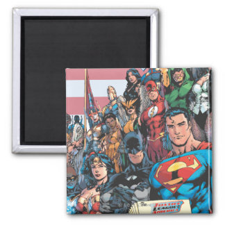 Justice League of America First Issue Square Magnet