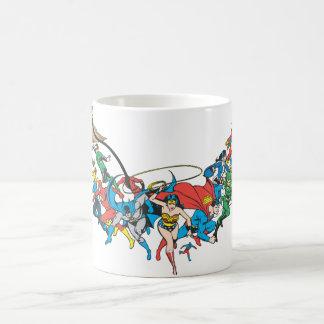 Justice League of America Group 2 Basic White Mug