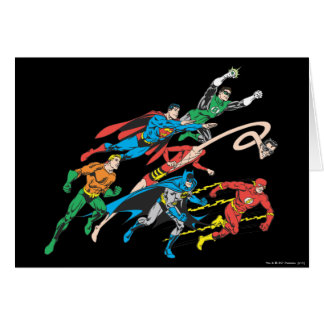 Justice League of America Group 5 Greeting Card