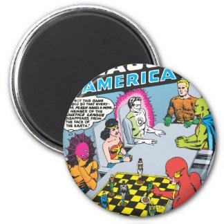 Justice League of America Issue #1 - Nov 6 Cm Round Magnet