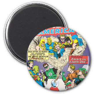 Justice League of America Issue #21 - Aug 6 Cm Round Magnet